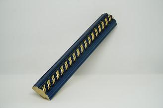 Багет дерев'яний синій з косичкою