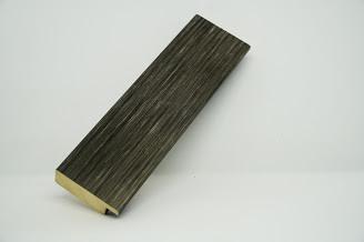 Багет дерев'яний срібно-сірий метал в смужку