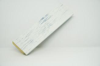 Багет дерев'яний біло-голубий