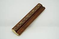 Багет дерев'яний коричневий з візерунком