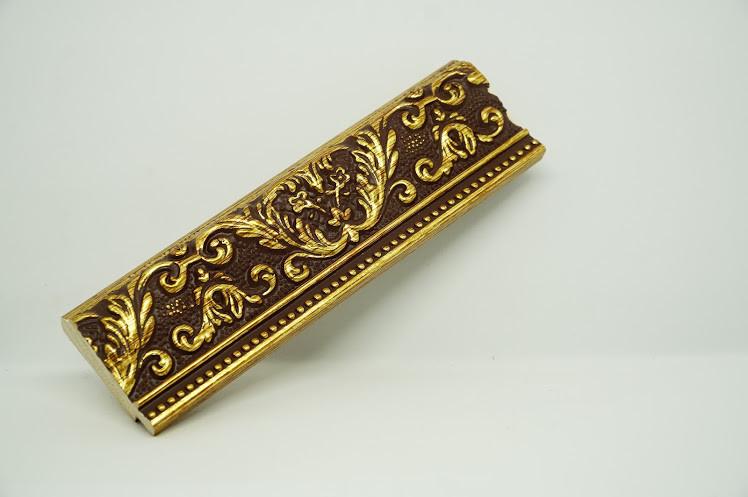 Багет дерев'яний бронза з візерунком