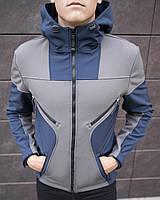 """Куртка мужская  """"Aura"""" (Navy-Grey) / ветровка осенне-весення"""