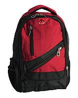 Школьный рюкзак swissgear А815 USB & AUX, красный