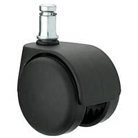 Ролик / колесо  для офисного кресла пластик, шток d=11мм, фото 1