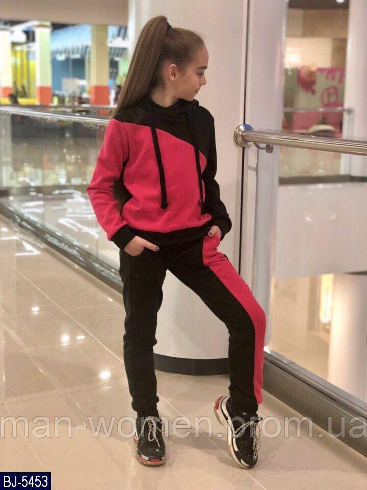 Детский  теплый спортивный костюм  для девочки . Р.134-152. Новый.(BJ-5454)