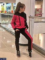 Детский  теплый спортивный костюм  для девочки . Р.134-152. Новый.(BJ-5454), фото 1