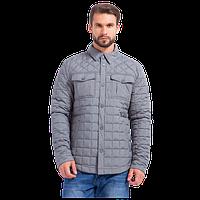 Мужская осенняя куртка Finn Flare A17-22016 серого цвета