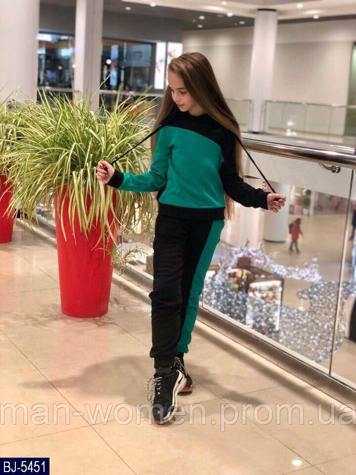 Детский  теплый спортивный костюм  для девочки . Р.134-152. Новый.(BJ-5452)