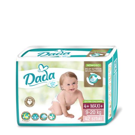 Підгузники Dada ( Дада ) Extra Soft Maxi+ 4+ (9-20 кг) - 42 шт.
