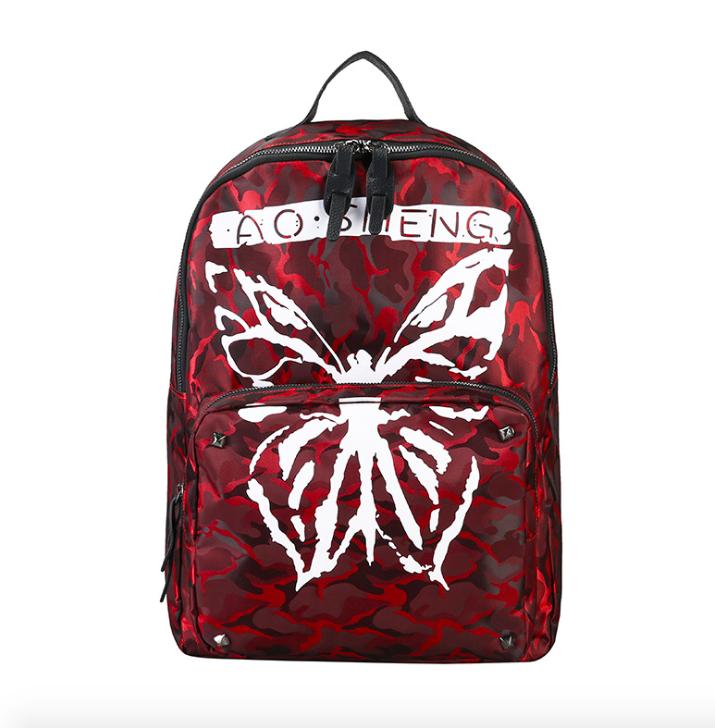 Рюкзак міський жіночий Butterfly Червоний
