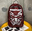 Рюкзак міський жіночий Butterfly Червоний, фото 2