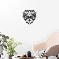 Голова льва Геометрическая голова Лев на стене Знак льва Декор для стен Подарки для него Магазин ручной работы