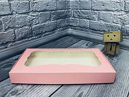 *10 шт* / Коробка для пряников / 150х280х35 мм / Пудра / окно-обычн
