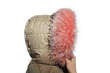 Опушка With needles из искусственного меха 70 см Розовая