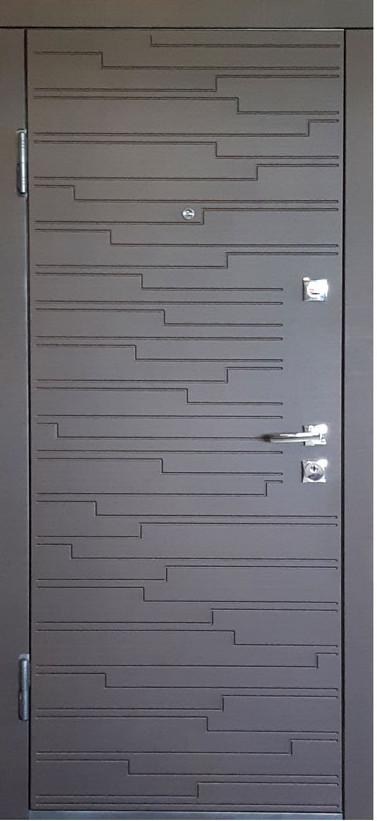 """Дверь входная """"Министерство Дверей"""" ПО-66 Венге горизонт тёмный"""