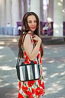 Женская монохромная прямоугольная сумочка с ушками Мур E007, фото 1