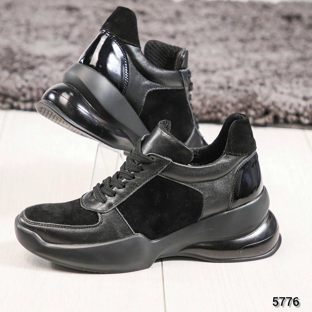 Кроссовки женские черные, Размер 38