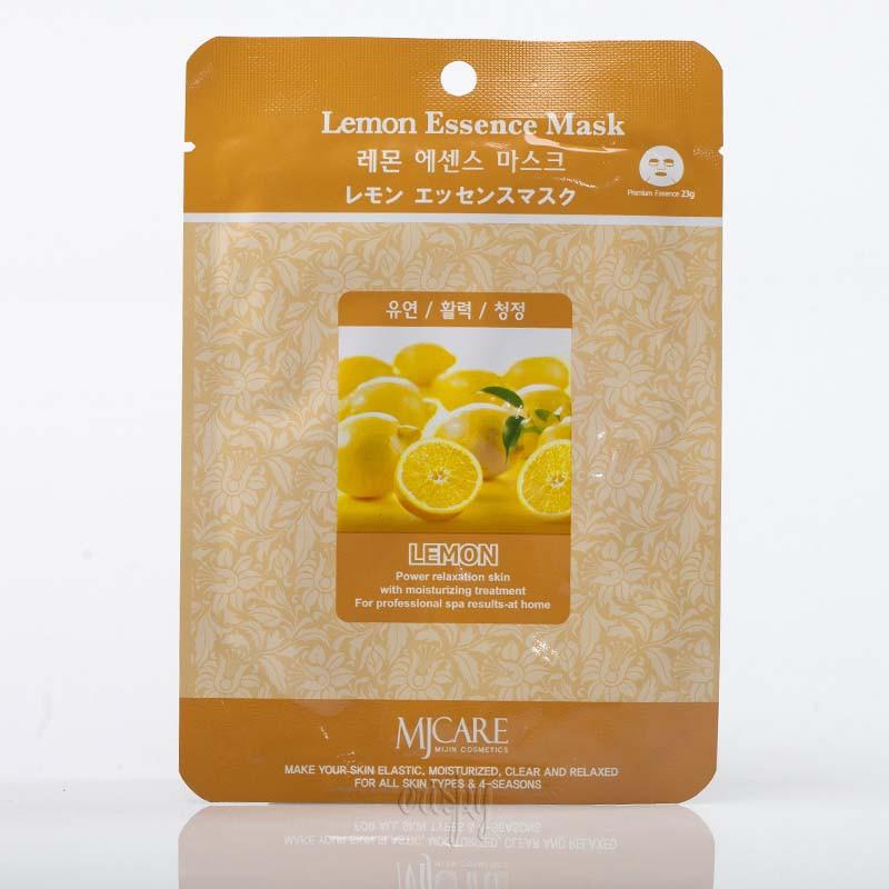 Маска для лица осветляющая с лимоном MJ CARE Lemon Essence Mask