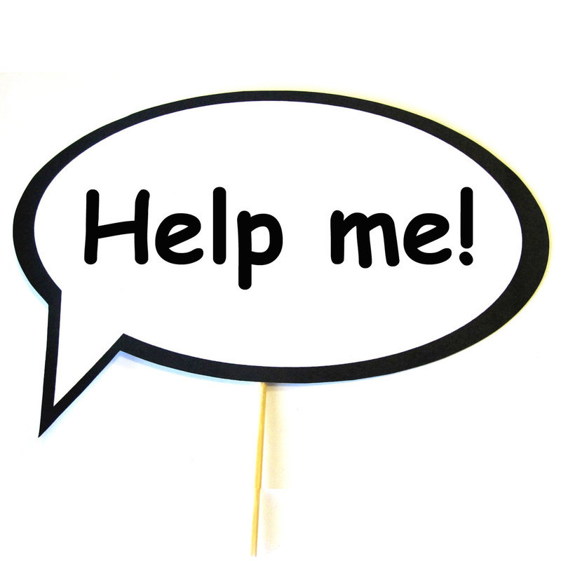 """Табличка Речевое облако 30х20 см """"Help me"""""""