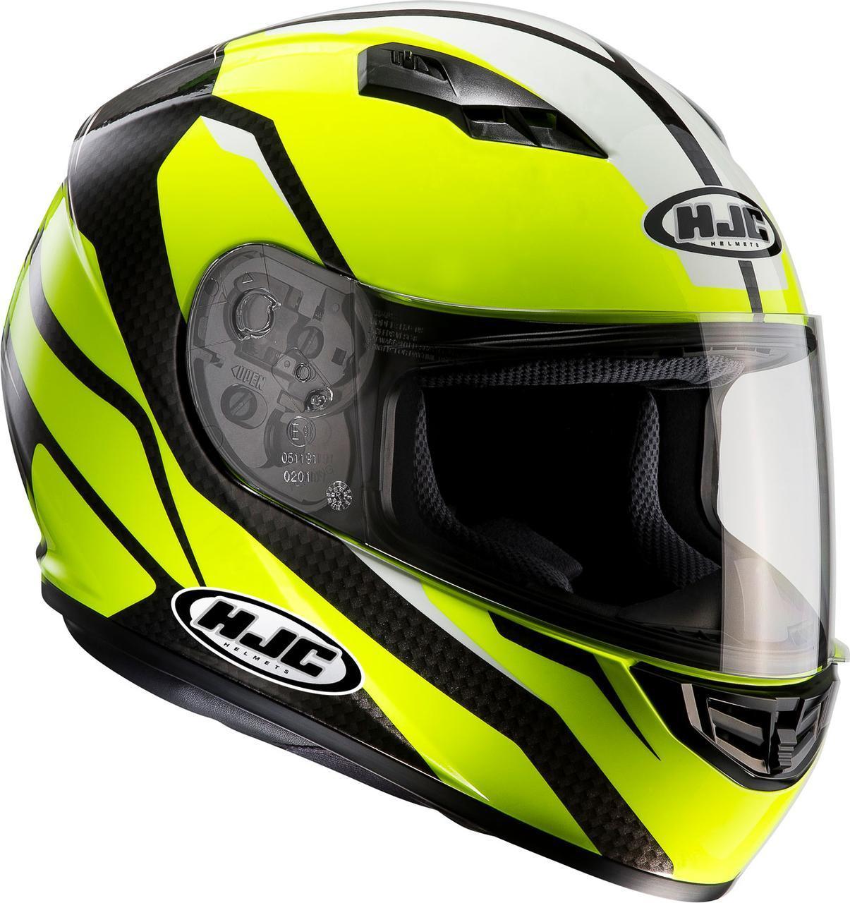 """Шлем HJC CS15 SEBKA Mc4h """"L"""" черно-желтый"""