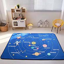 """Безкоштовна доставка! Килим в дитячу """"Парад планет"""" утеплений килимок мат (1.5*2 м)"""
