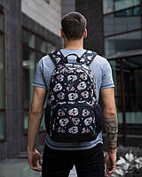 "Рюкзак черный Pobedov Backpack ""Ambition"" Diamantovi cherepy"