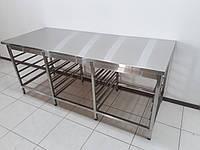 Стол производственный изнержавеющей стали 2000х800х850, фото 1