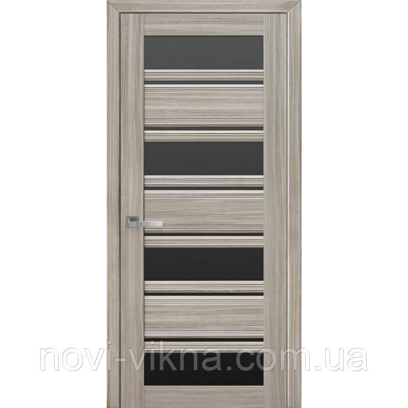 Дверь межкомнатная Венеция С2 жемчуг magica 900 мм со стеклом BLK (черное).