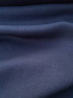 Льняная костюмная ткань чернильного цвета