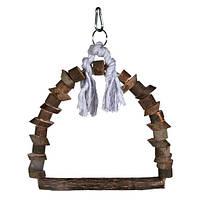 Trixie Natural Living Arch Swing качели-арка для птиц из натурального дерева 22х29см (5891)