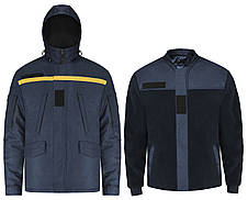 Куртка зимняя 2 в 1 Hybrid для ДСНС (съемный утеплитель флисовая кофта), фото 2