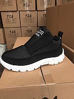Дутики жіночі черевики 311 чорні липучка