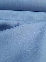 Льняная сорочечная ткань голубого цвета, фото 1
