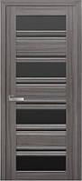 Дверь межкомнатная Венеция С2 жемчуг графит 800 мм со стеклом BLK (черное).