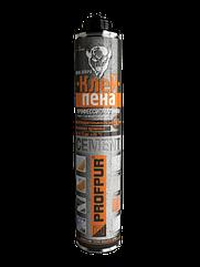 Клей- піна CEMENT PROFPUR  професійна 850 мл для газоблоків, цегли, тощо