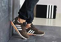 Кроссовки мужские коричневым Adidas, мужские весенние кроссовки (Реплика)