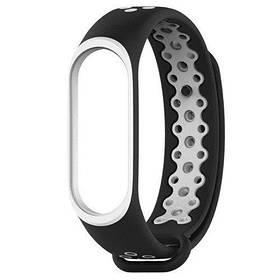 Силіконовий ремінець Primo Perfor Sport для фітнес-браслета Xiaomi Mi Band 4 - Black&White