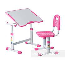 Комплект парта і стілець-трансформери FunDesk Sole II Pink, фото 3