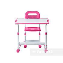 Комплект парта и стул-трансформеры FunDesk Sole II Pink, фото 3