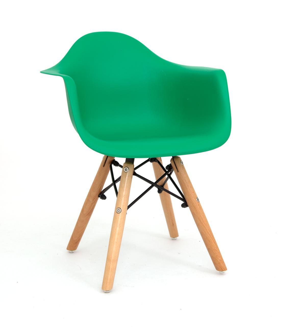 Стул детский Leon Eames kids, зеленый