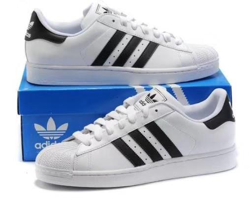 Кроссовки Adidas SuperStar White Black Белые мужские реплика