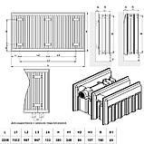 Радиатор стальной Daylux 33-К 300х2200 боковое подключение, фото 2
