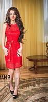 """Платье """"Аnor"""" гипюр красное"""
