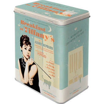 Коробка для хранения Nostalgic-Art Breakfast at Tiffany's Blue L (30119)