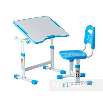 Комплект парта и стул-трансформеры FunDesk Sole II Blue, фото 2