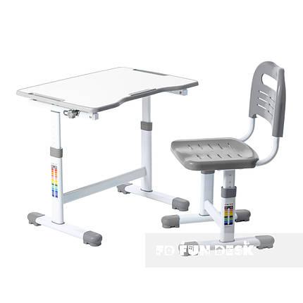 Комплект парта и стул-трансформеры FunDesk Sole II Grey, фото 2