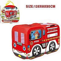 Палатка игровая Пожарная машина 128х68х85 см, фото 1
