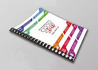Печать эконом брошюр А4 на пружину мягкая обложка (офисная бумага 80 гр) цветная печать