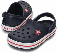 Мужские кроксы темно-синие, сабо Crocs оригинал