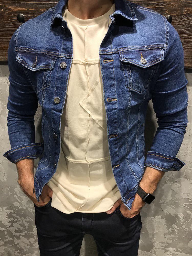 Мужская джинсовая куртка «Its» blue